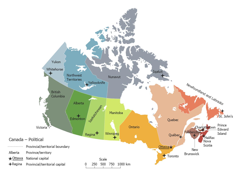 Canada Political Map