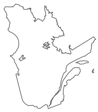 Geo Map Canada Quebec - Map of quebec canada