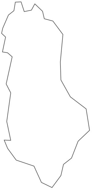 Geo Map - Europe - Albania Contour