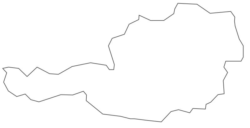 Geo Map - Europe - Austria Contour