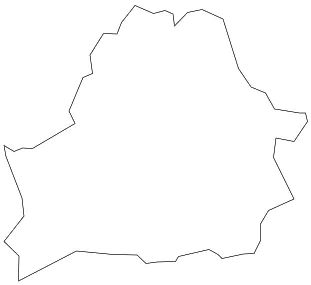 Geo Map - Europe - Belarus Contour