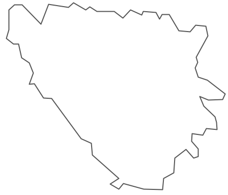 Geo Map - Europe - Bosnia and Herzegovina Contour