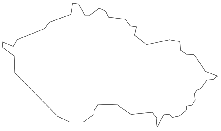 Geo Map - Europe - Czech Republic Contour