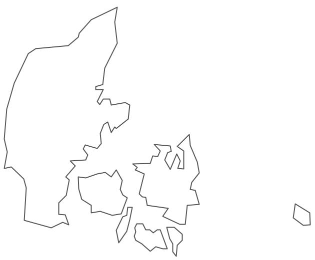 Geo Map - Europe - Denmark Contour