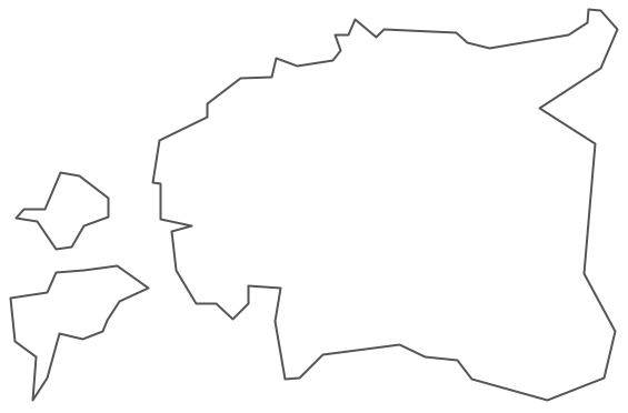 Geo Map - Europe - Estonia Contour