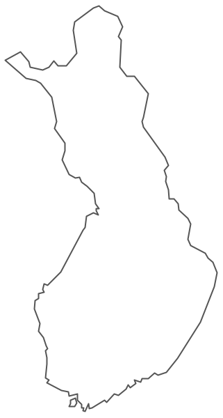 Geo Map - Europe - Finland Contour