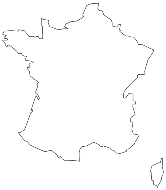 Geo Map - Europe - France Contour