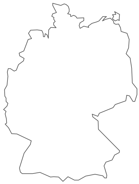 Geo Map - Europe - Germany Contour