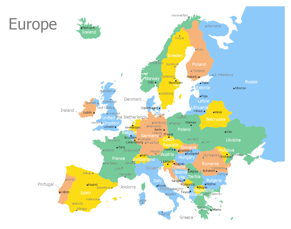 Geo Map Europe Germany – Travel Map Of Europe With Cities