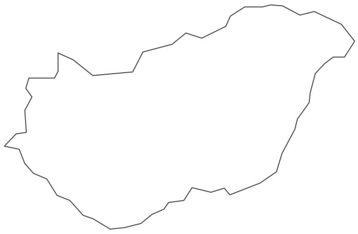Geo Map - Europe - Hungary Contour