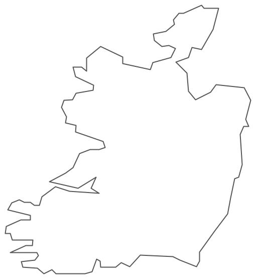 Geo Map - Europe - Ireland Contour