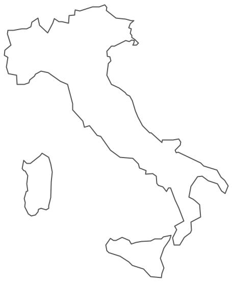 Geo Map - Europe - Italy Contour