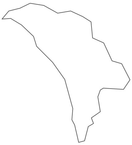 Geo Map - Europe - Moldova Contour