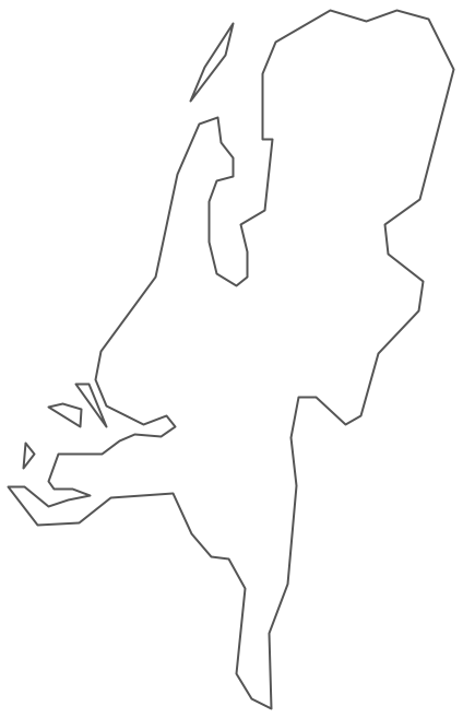 Geo Map - Europe - Netherlands Contour