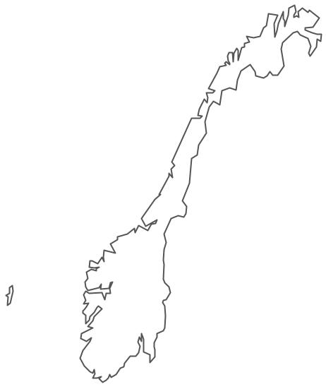 Geo Map - Europe - Norway Contour