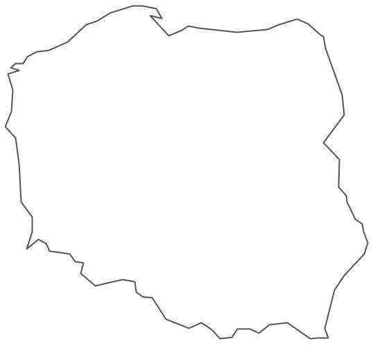 Geo Map - Europe - Poland Contour