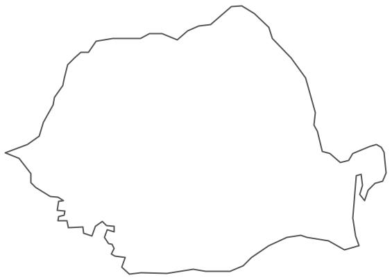Geo Map - Europe - Romania Contour