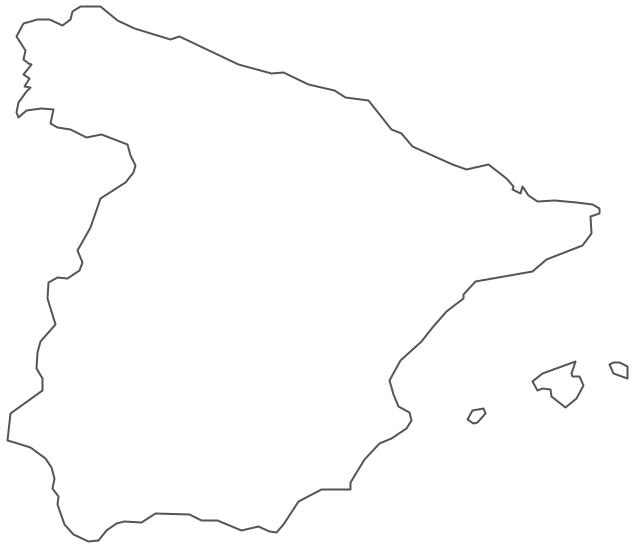 Geo Map - Europe - Spain Contour