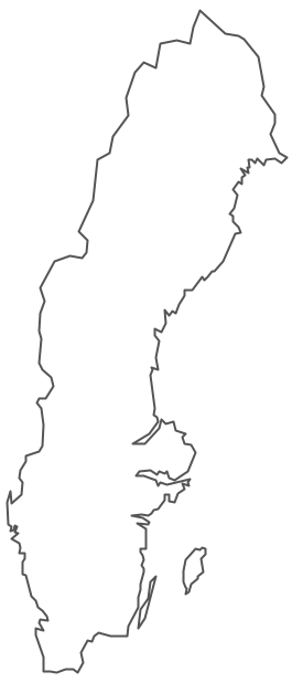 Geo Map - Europe - Sweden Contour