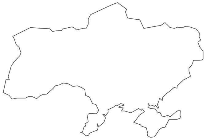 Geo Map - Europe - Ukraine Contour