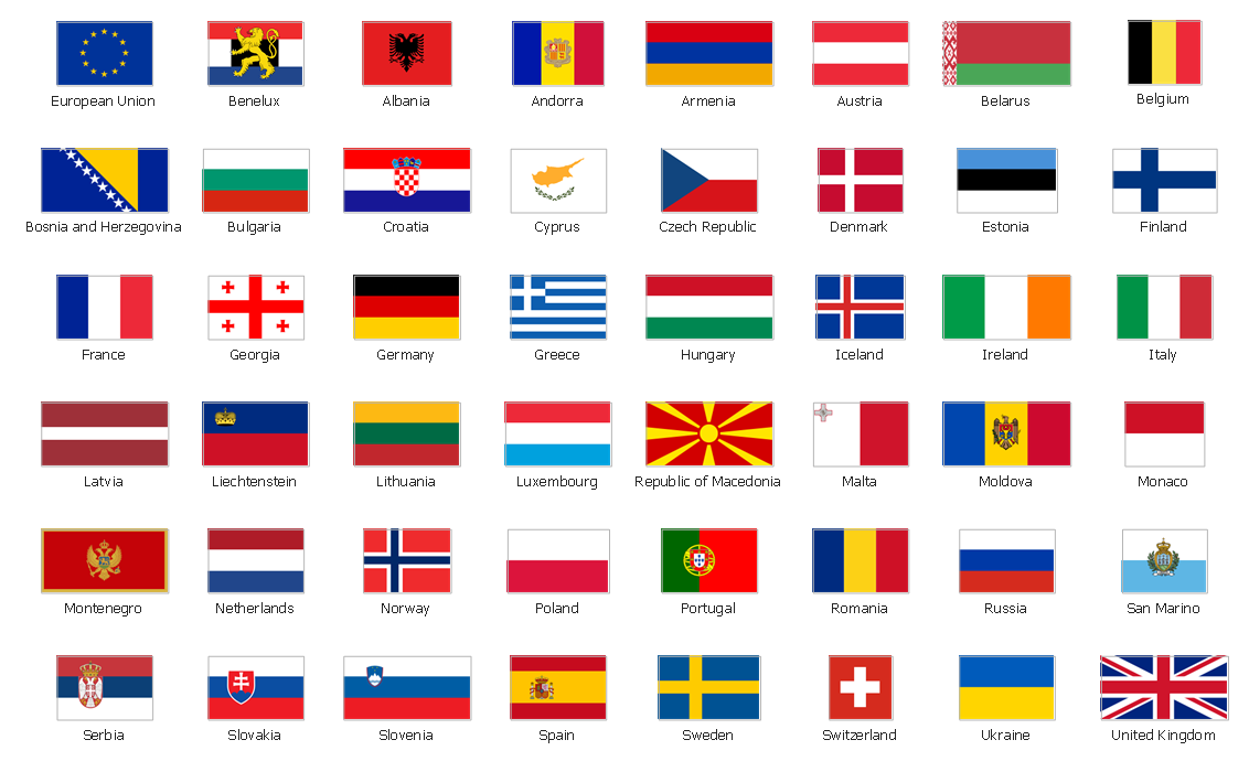 Design elements - Europe flags