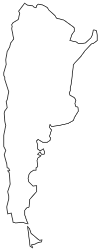 Geo Map South America Argentina - Argentina map vector
