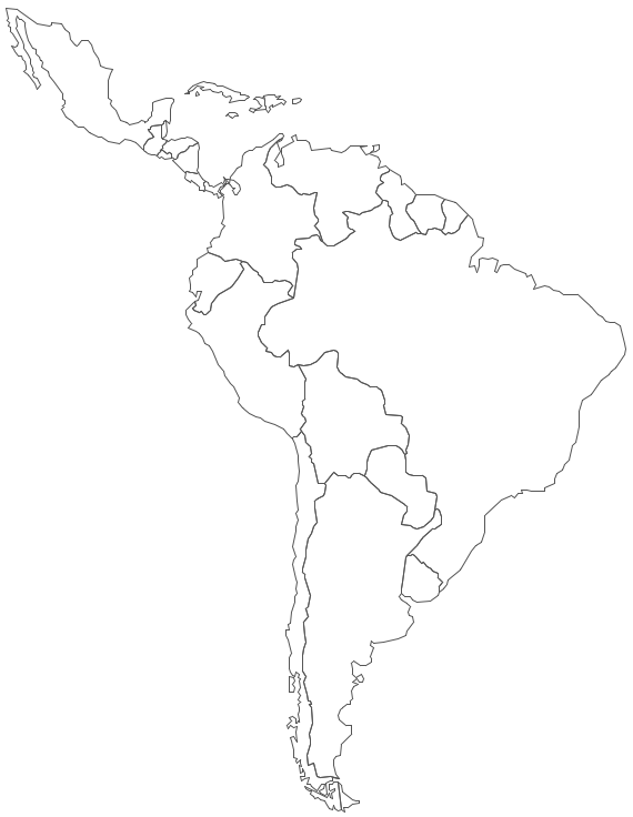 Geo Map - South America - Mexico