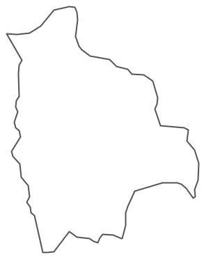 Geo Map - South America - Bolivia Contour
