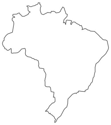 Geo Map - South America - Brazil Contour