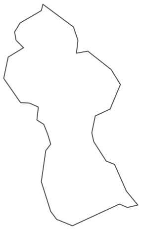 Geo Map - South America - Guyana Contour