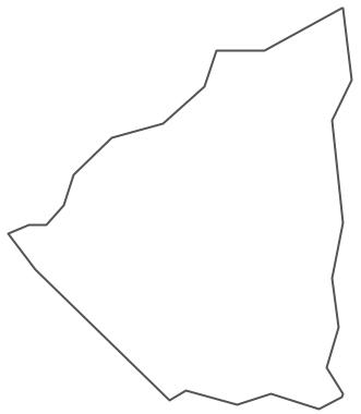 Geo Map - South America - Nicaragua Contour