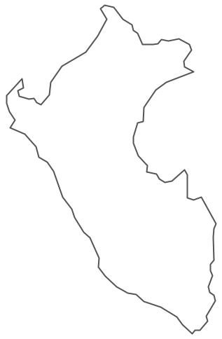 Geo Map - South America - Peru Contour