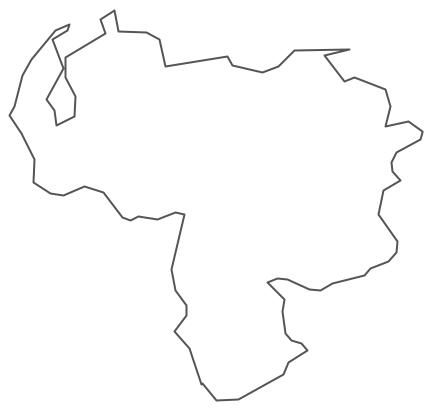 Geo Map - South America - Venezuela Contour