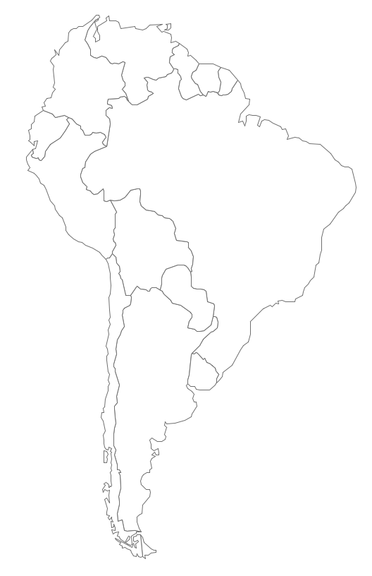 Geo Map   South America Continent | How to Draw South America