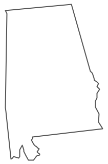Geo Map - USA - Alabama Contour
