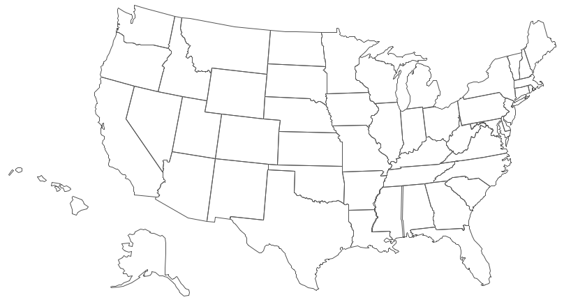 Geo Map USA Mississippi - Black and white map of us