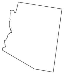 Geo Map - USA - Arizona Contour