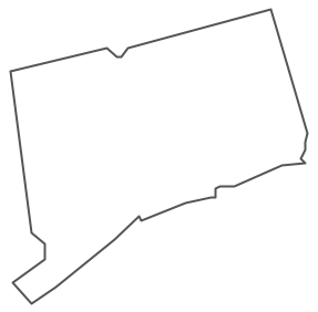 Geo Map - USA - Connecticut Contour