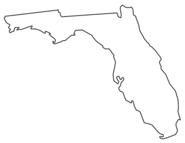 Geo Map - USA - Florida Contour