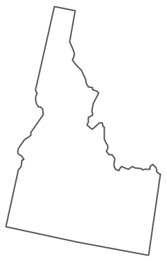 Geo Map - USA - Idaho Contour