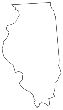 Geo Map - USA - Illinois Contour
