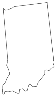 Geo Map - USA - Indiana Contour