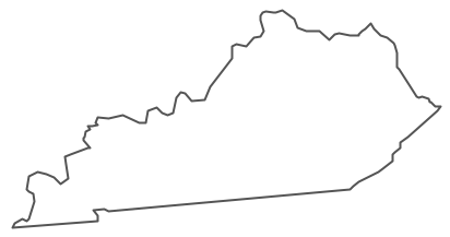 Geo Map - USA - Kentucky Contour