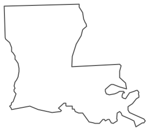Geo Map - USA - Louisiana Contour