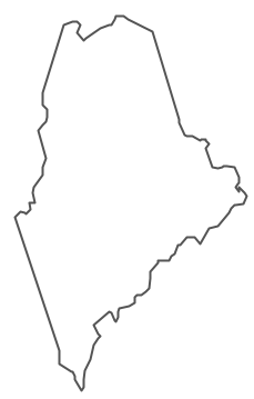 Geo Map - USA - Maine Contour