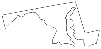 Geo Map - USA - Maryland Contour
