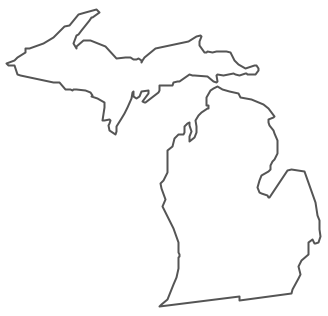 Geo Map - USA - Michigan Contour