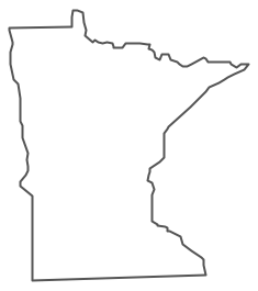 Geo Map - USA - Minnesota Contour