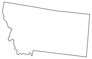 Geo Map - USA - Montana Contour