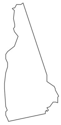 Geo Map - USA - New Hampshire Contour